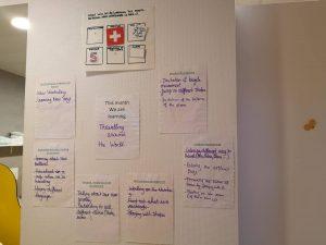 Mur pédagogique crèche bilingue